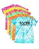 Lacrosse Tie Dye T-Shirt Love Lacrosse Charcoal Logo (M, Red)