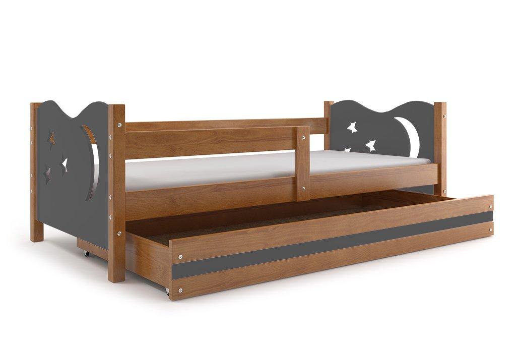Kinderbett Niko 160x80cm Farbe: Erle, aus Kiefernholz. mit (Erle ...