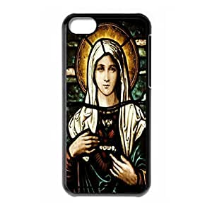Hard back case with Virgin Mary logo for iPhone 5C