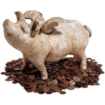 (Design Toscano When Pigs Fly Authentic Foundry Medium Bank Sculpture)