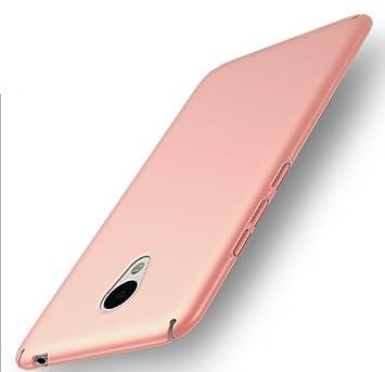 Apanphy Meizu M5 Note Carcasa, Alta calidad Ultra Slim Hard sedoso Scrub Shell plena protección trasera piel siento cover para Meizu M5 Note Oro Rosa
