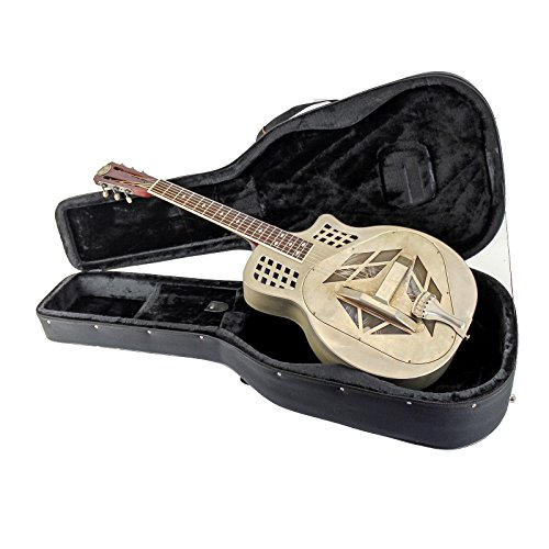 Royall Trifecta Antique Steel 12 Fret Cutaway Tricone Resonator with Case (Resonator Tricone)