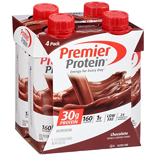 Premier Protein 30g Protein Shakes, Chocolate, 11 Fluid Ounces (Pack of 4)