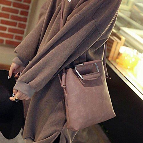 Femme Piel Gris De Esailq Bandoulière Sac gris 001 Hombro Rosé Bolsa 001 wzw0Y