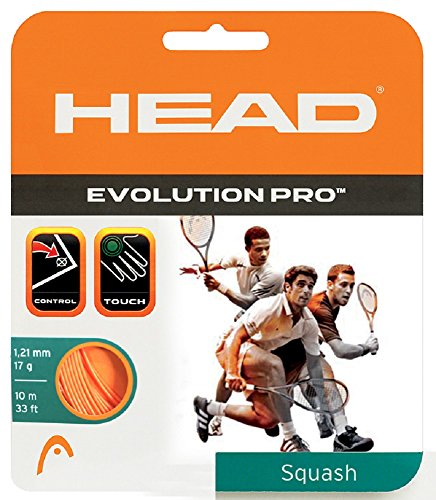 HEAD Evolution Pro 17 Squash String Orange