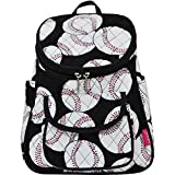 Baseball Print NGIL Quilted Mini Backpack