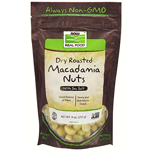 (NOW Foods Dry Roasted & Salted Macadamia Nuts, 9-Ounce)