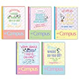 Sun-Star Stationery Smart Campus Notebook (Dot/A Ruled line) [Snoopy] 5 Pieces Set (Japan Import)