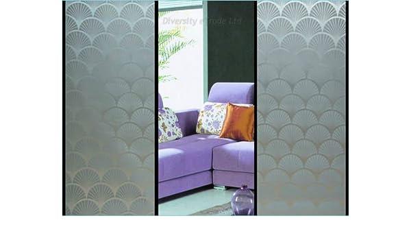 52 cristal mate de privacidad diseño decorativo película para ventana de vinilo autoadhesivo DIY 30 cm x 90 cm: Amazon.es: Hogar