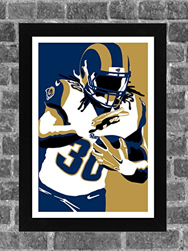 Los Angeles Rams Todd Gurley Portrait Sports Print Art 11x17 by FanFourLife