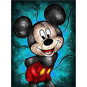DIY 5D Diamond Painting Kits for Adults,Disney Full Drill Embroidery Paint with Diamond for Home Wall Decor 12×16 Inch