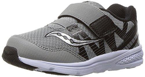 Saucony Baby Ride Pro Running Shoe (Toddler/Little Kid), Grey/Black, 10 M US Toddler