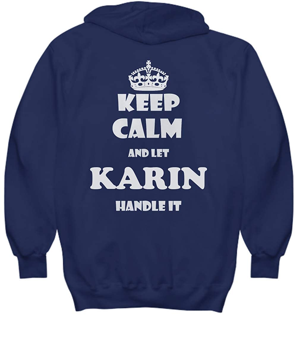 2 Sides Keep Calm and LET Karin Handle IT with Default Size 2XL White