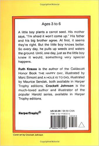 The Carrot Seed (Rise and Shine): Ruth Krauss, Crockett Johnson ...