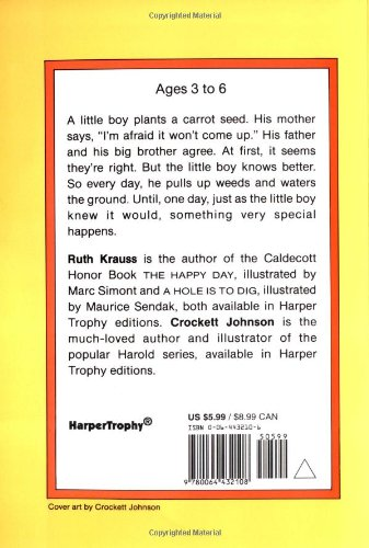 Workbook contraction worksheets for grade 3 : The Carrot Seed (Rise and Shine): Ruth Krauss, Crockett Johnson ...