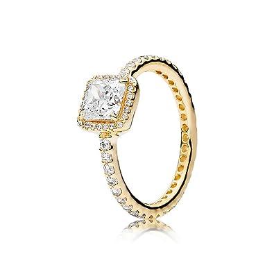 91b21418b1dda Pandora Women's Ring Timeless Elegance 150188CZ Yellow Gold: Amazon ...