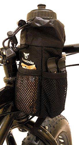 Moosetreks Bike Handlebar Stem Bag | Food Snack Storage, Water Bottle Holder | Bikepacking, Bicycle Touring, Commuting, Insulated Pouch by Moosetreks (Image #7)