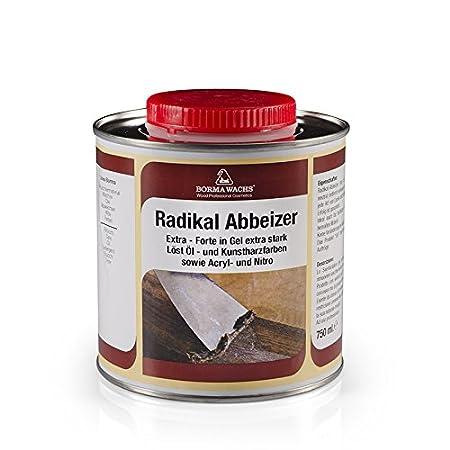 Quitapinturas o decapante extra fuerte en gel ideal para quitar pinturas viejas de madera y metal - 750 ml - Borma Wachs