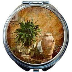 Rikki Knight Tuscan Rural Garden Design Round Compact Mirror