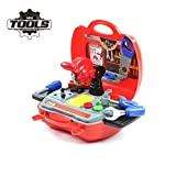 Construction Toys - Childrens Pretend Play Role Play Set - Tool Kit Carry Case 19 Piece Toys For 3 Year Old Boys