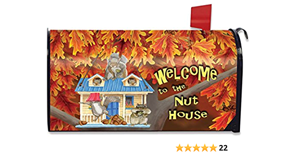 Briarwood Lane Nuthouse Fall Magnetic Mailbox Cover Welcome Autumn Standard