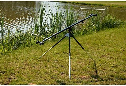 Neco ROD POD Pro - Soporte de 3 varillas para pesca, trípode para caña, construcción de aluminio, pesca efectiva + GRATIS Etui 26018