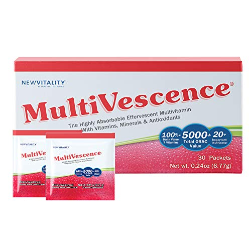 Multivescence Multivitamin Drink – Health & Immunity System Support Supplement – Vitamins, Minerals, Antioxidants, Nutrients – 1000mg Vitamin C Plus B12, D, Calcium, Zinc – Travel (30 Packets)