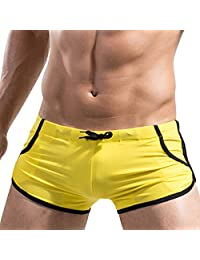 Dong Dian Men's Sexy Tie Rope Swimwear Trunks Boxer Briefs Jogging Shorts