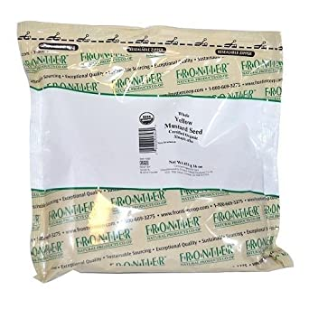 Frontier Herb Organic Yellow Whole Mustard Seed, 16 Ounce -- 6 per case