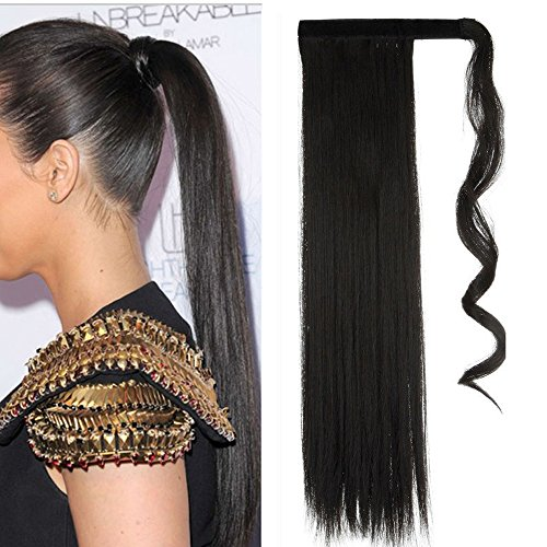S-noilite Wrap Around on Ponytail Clip in Hair Extensions Hu