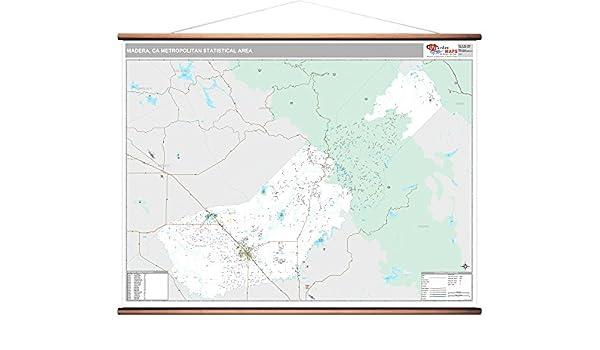 Amazon.com: Madera, CA Metro Area Wall Map - 2018 - ZIP ...