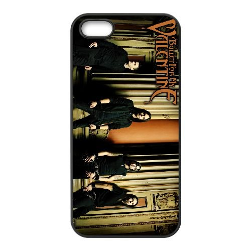 Bullet For My Valentine 009 coque iPhone 4 4S cellulaire cas coque de téléphone cas téléphone cellulaire noir couvercle EEEXLKNBC23955