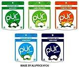Pur Mints 5 Flavor Variety Pack - Tangerine Tango, Mojito Lime Mint, Polar Mint, Peppermint & Spearmint - 20 Pieces Each