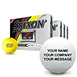 Srixon Z Star XV 5 Yellow Personalized Golf Balls - Buy 3 Get 1 Free
