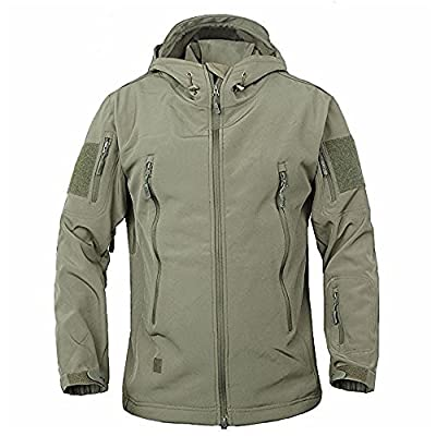 Men's Military Softshell Tactical Jacket Hooded Fleece Coat