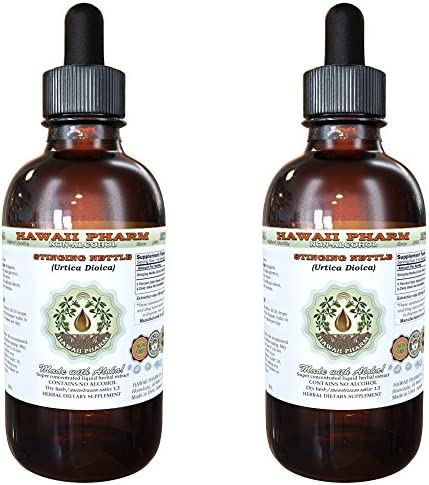 Stinging Nettle Alcohol-FREE Liquid Extract, Organic Stinging Nettle Urtica Dioica Dried Leaf Glycerite 2×4 oz