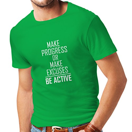 "T Shirts for Men ""Be Active - Living with no Excuses""– for sale  Delivered anywhere in USA"