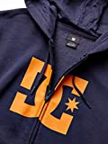 DC Men's Star Zip Fleece, Black iris/Orange