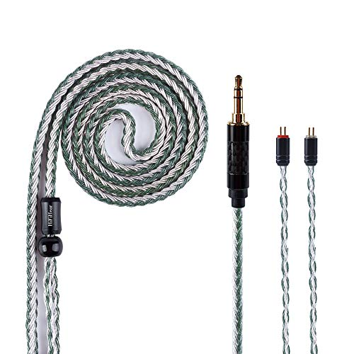 Audio Cable Extension 16 Cores Silver Plated HiFiHear Replacement Cable Balanced IEM Earphones Cable with 0.78mm Connection for ES4 ZS6 ZS5 ZST ZSR ZS10 ZS3 TFZ ES3 TRNV10 CCA C10 C16 (2Pin 3.5MM)