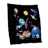Burlap Throw Pillow Solar System And Asteroids