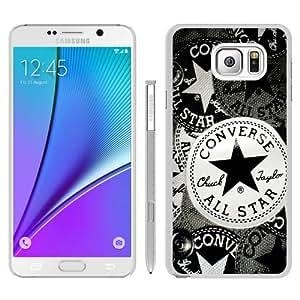 Personalized Custom Samsung Galaxy Note 5 Case,Converse White Samsung Galaxy Note 5 Phone Case