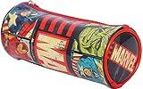 HMI Original Disney & Marvel Licensed PVC Pencil Pouch / Pencil Bag, Round Cylindrical Shaped (Marvel Avengers)