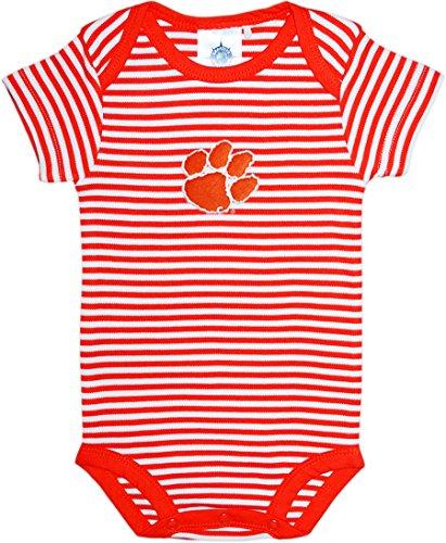 Clemson University Tigers Striped Baby Bodysuit Orange ()