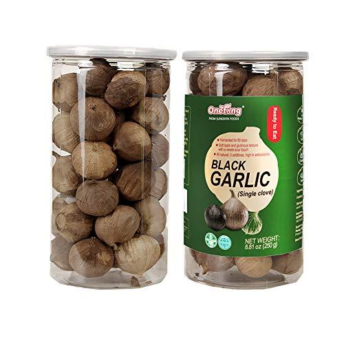 ONETANG Black Garlic 250g, Whole Black Garlic Fermented for 90 days, 0 additives, high in antioxidants 8.81 oz