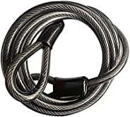 Cable Lock - Bike Lock - Bike Security Steel Cable - 4FT Long Bike Lock Cable 8mm Thick Vinyl Coated Braided S
