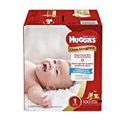 Huggies Little Snugglers Baby Diapers, Size 1, 100 Count, GIGA JR Pack (Packaging May Vary)