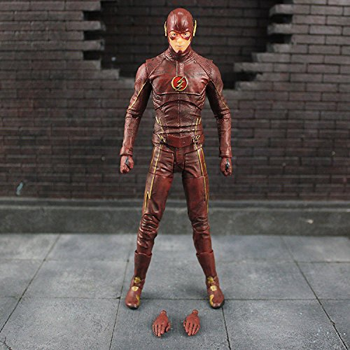 [TONGROU The Flash Action Figure Limited Alive TV Series Grant Gustin Toy] (Flash Gordon Costume Amazon)