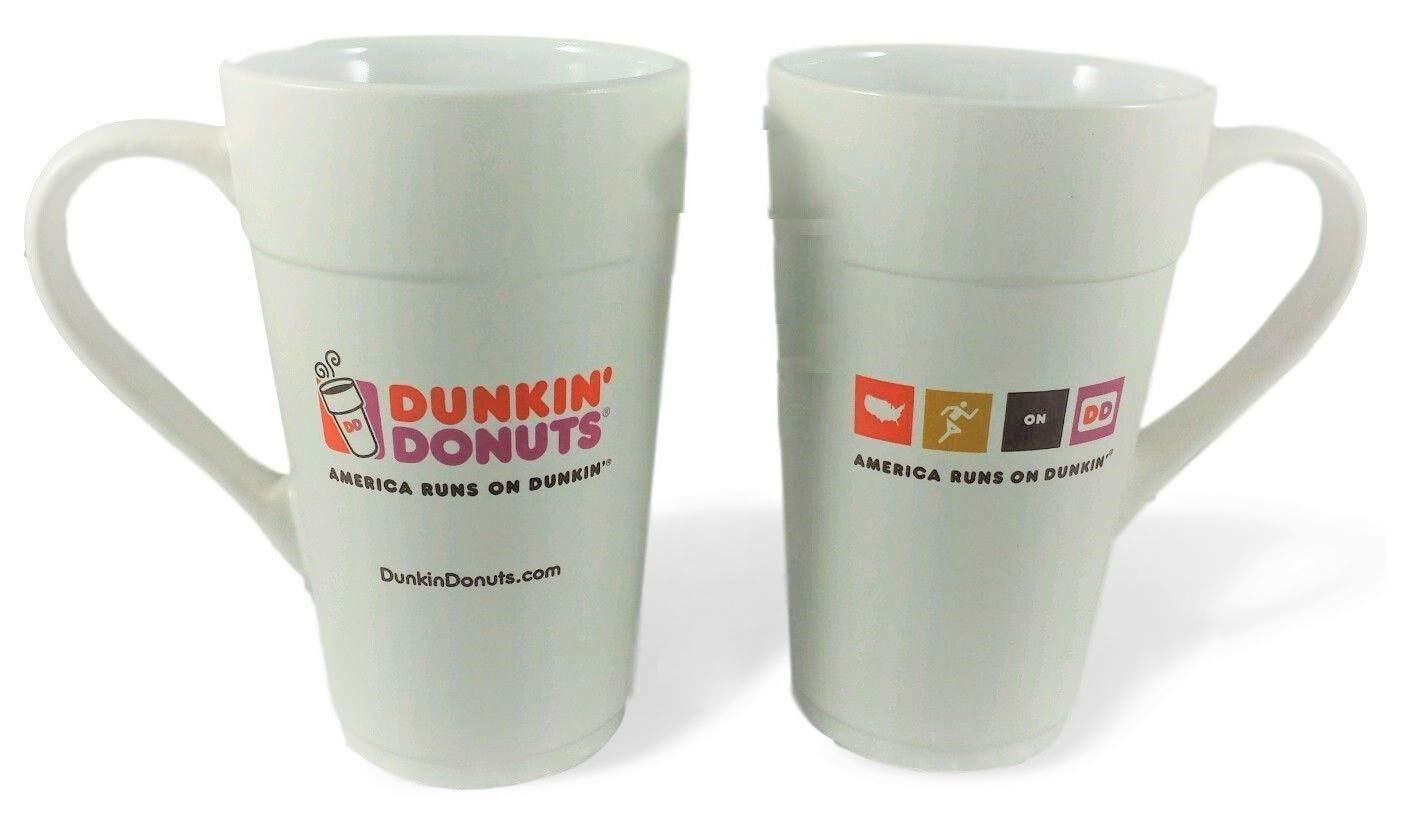 Amazon.com: Dunkin Donuts America Runs on Dunkin Coffee Mug: Kitchen ...