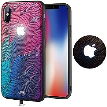 Yacn iPhone 7 Plus Phone Cases led Logo Light, iPhone 8 Plus case Glowing Light Up Logo Case