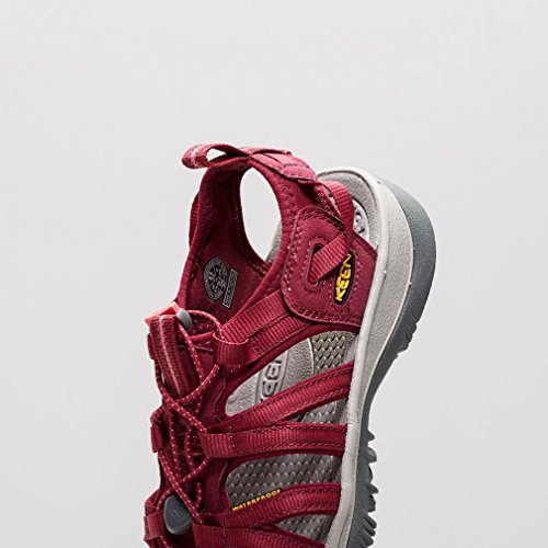 Keen WHISPER W-GREENBRIAR/NEUTRAL GRAY - Sandalias de material sintético mujer Beet Red/Honeysuckle